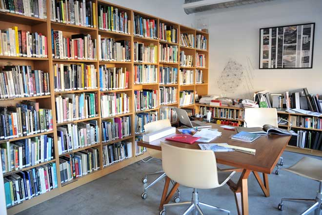 Jeanne Gang's office library